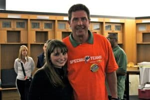 Haley Moss and Dan Marino