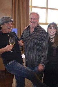 Brian Johnson from ACDC with Rick Moss and Haley Moss at MAAP benefit Bradenton, FL