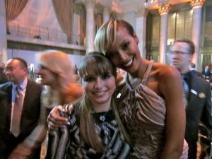 Haley Moss with model Selita Ebanks