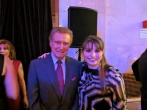 Regis Philbin with Haley Moss